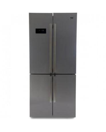 Beko GN1416221ZX Libera installazione 541L A+ Acciaio inossidabile frigorifero side-by-side