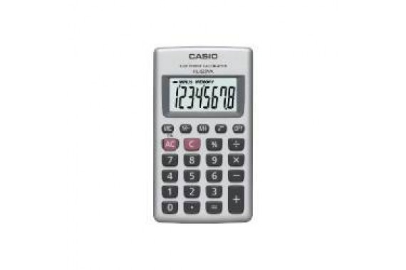 Casio HL-820VA Tasca Calcolatrice di base Argento calcolatrice