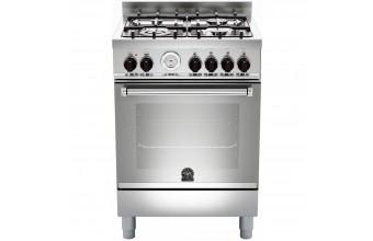 Bertazzoni La Germania Cucina Libera Installazione AM64C51UX Piano cottura Gas Forno Elettrico con 9 Funzioni Inox