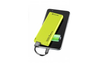 Cellularline FreePower Slim 5000 Polimeri di litio (LiPo) 5000mAh Verde batteria portatile