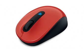 Microsoft Sculpt Mobile Mouse RF Wireless BlueTrack 1000DPI Ambidestro Nero, Rosso mouse