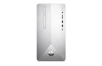 HP Pavilion 595-p0019nl 3,2 GHz Intel® Core™ i7 di ottava generazione i7-8700 Argento Mini Tower PC