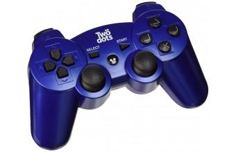 Twodots TDGT0035 Gamepad Playstation 3 Blu periferica di gioco