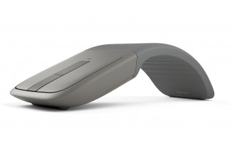 Microsoft Arc Touch Bluetooth mouse Blue Trace Ambidestro Argento