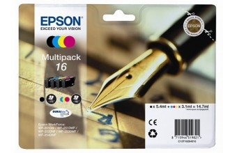 Epson C13T16264022 3.1ml 5.4ml 175pagine 165pagine Nero, Ciano, Magenta, Giallo cartuccia d'inchiostro
