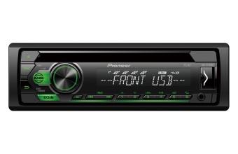 Pioneer DEH-S110UBG Ricevitore multimediale per auto Nero, Verde 200 W
