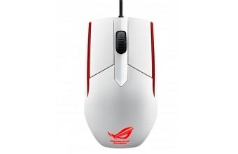 ASUS ROG Sica USB Ottico 5000DPI Ambidestro Bianco mouse