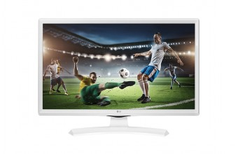 "LG 24MT49VW 24"" HD LED Opaco Bianco Piatto monitor piatto per PC"