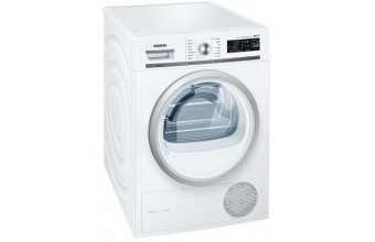 Siemens WT47W5H8IT Libera installazione Carica frontale 8kg A+++ Bianco asciugatrice
