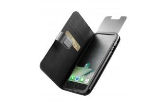 Cellularline Top Secret - iPhone 7 Custodia a libro che protegge lo smartphone da occhi indiscreti Nero