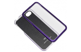 Xqisit Custodia iPhone 4 4S iPlate Solid Viola