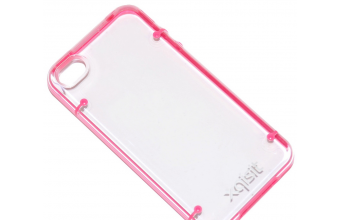 XQISIT Custodia Originale Hard Cover iPlate Style per Apple iPhone 4 Pink