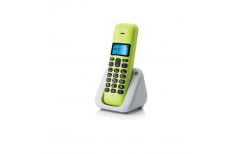 """Motorola T301PLBL serie T3+ 1.4"""" Rubrica Suonerie Polifoniche Vivavoce Telefono Cordless Giallo"""