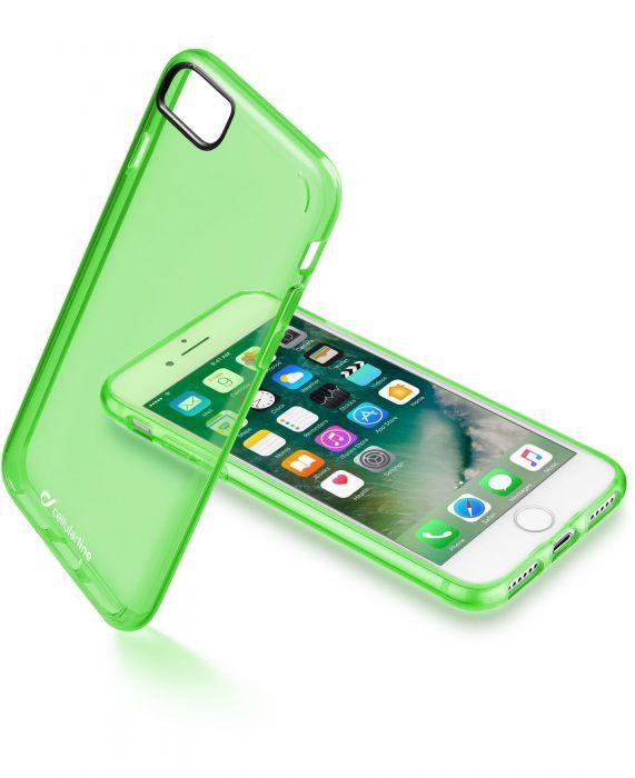 Cellularline Clear Color - iPhone 7 Cover rigida super colorata e cornice morbida Verde